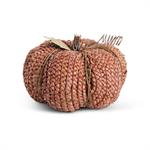 Pumpkin - Braided Cornhusk Pumpkin, Rust, 10^