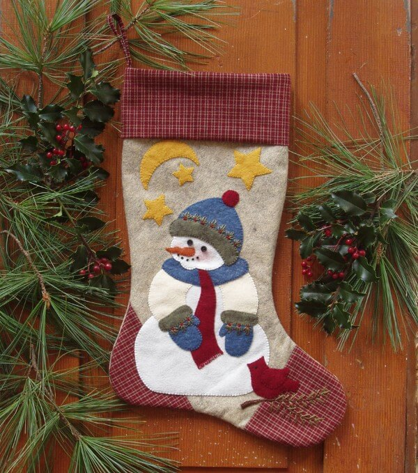 QUILT KIT - SNOWMAN STOCKING