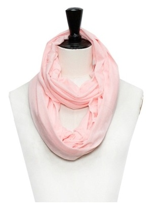 SCARF - PLAIN INFINITY LIGHT PINK