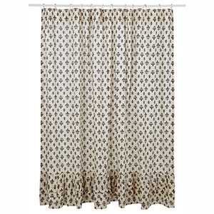 SHOWER CURTAIN ELYSEE RUFFLED 72X72