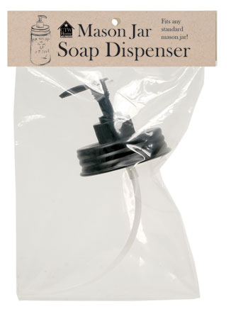 Soap Dispenser - Black Pump Lid