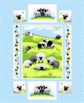 SusyBee - Lewe The Ewe - 36^ Quilt Panel, Lt Blue