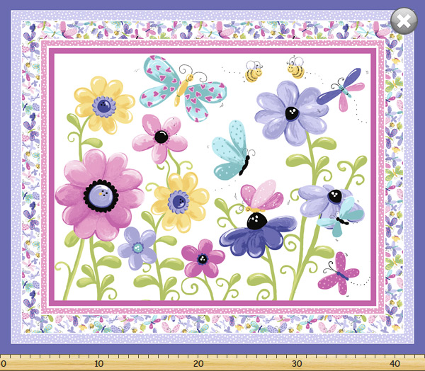 Susybee - Flutter The Butterfly - 36' Play Mat, Lilac
