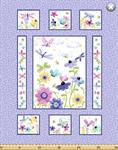 Susybee - Flutter The Butterfly - 36^ Quilt Panel, Lilac