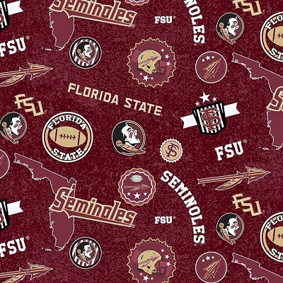 Sykel - College Prints - Florida State Seminoles, Burgundy