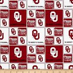 Sykel - College Prints - University of Oklahoma, Red & White