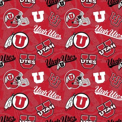 Sykel - College Prints - Utah Utes, Red
