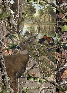 Sykel - Real Tree - Fleece - 48 x 60' Deer & Turkey Panel, Camouflage