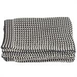 Throw - Grey & Cream, Houndstooth