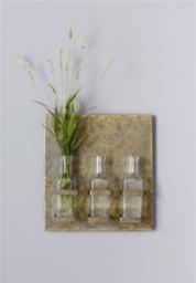 Tin Wall Plaque - Holds 3 glass jars