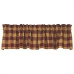 VALANCE - BARN RED CHECK