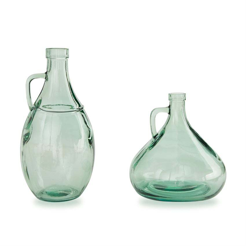 Vase - Short Green Vase With Handle 3