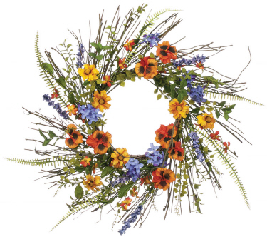 WREATH - PANSY/DAISY