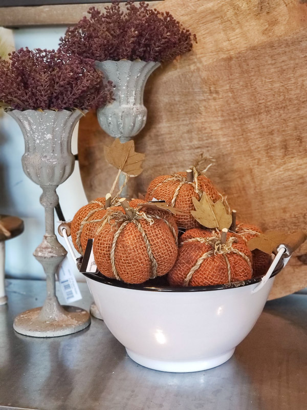 Burlap Orange Pumpkins